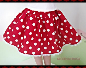 Minnie Mouse twirly skirt in various colors perfect for Disney parks, cruise wear, birthday, & photo props