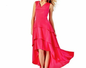 Ruffle Options Dress Pattern, Hi Lo Dress Pattern, Peplum Top Pattern, Formal Dress Pattern, Sz 12 to 20, McCall's 6698 sewing pattern