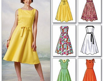 Strapless Sundress Pattern, Sleeveless Dress Pattern, Easy Dress Pattern, Butterick Pattern 4443