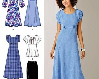 A-line Dress Pattern, Pullover Tunic Top Pattern, Straight Skirt Pattern,  Simplicity Sewing Pattern 2249
