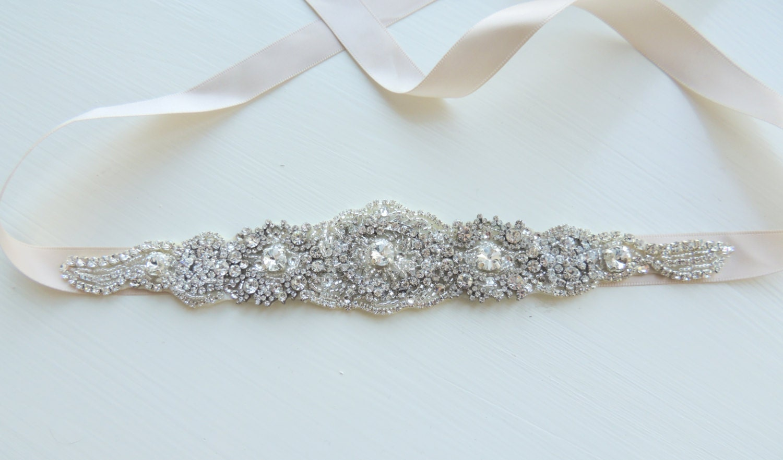 erica bridal brooch bustier wedding dress sash
