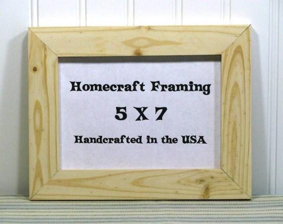 5x7 picture frame unfinished wedding frame wood frame cottage. Black Bedroom Furniture Sets. Home Design Ideas
