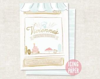 Baking Party Invitation - Bakery Party Invitation - Bridal Shower Invitation - Bakery Baby Shower Invitation - Cupcake Bakery Clip Art