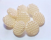 Pearly Vintage Glass Buttons Creamy Pearly 12mm Sewing Buttons Set 8