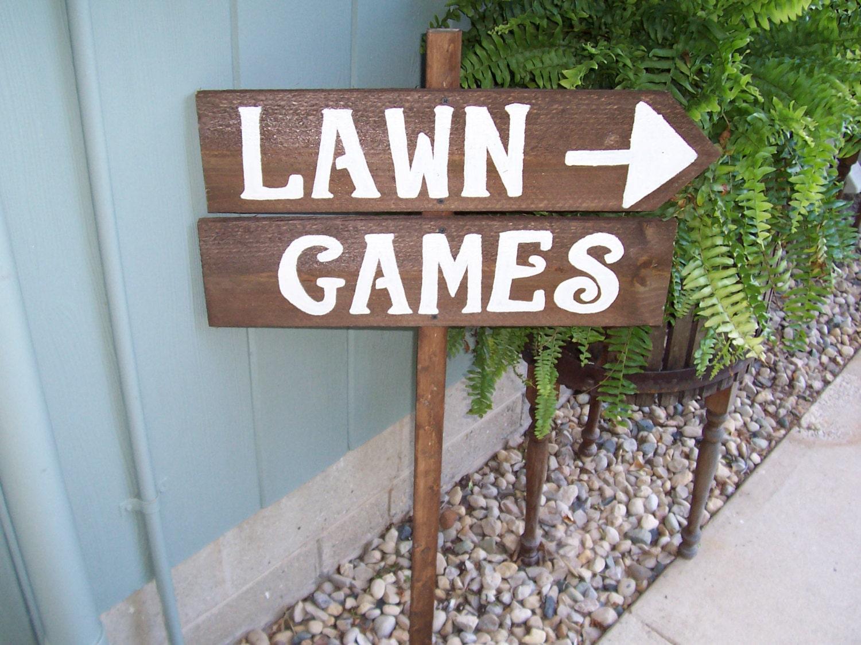 Wedding Lawn Games Signs Outdoor Weddings Yard Corn Hole
