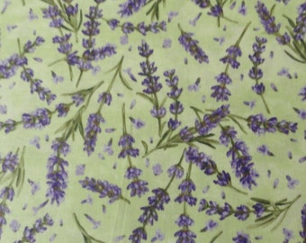 Complimentary colors Springtime Lavender Fabric cotton quilting Lavender Flowers Sachet sewing