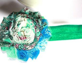 Chiffon Flower Headband, Hair Clip, Rosette Hair Clip,