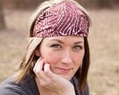 Batik Headwrap Pink Headscarf Pink Headband Womens Headband Fabric Headband Scarf Headband Sport Headband Pink Hair Band (#4141) S M L X