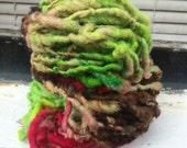 Rose Bush HandSpun and Hand Dyed Yarn