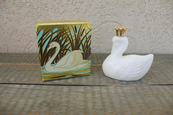 Vintage Avon Perfume Royal Swan Bird of Paradise Cologne with Box