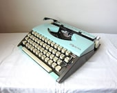 Sky Blue Olympia SF Typewriter - Molly - Professionally Serviced