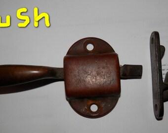 vintage Flush ice box style latch and catch left hand hinge