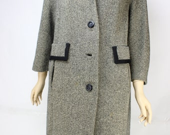Vintage Black and White Weather Couture Coat