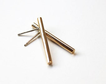 Linear Earrings Gold (long)