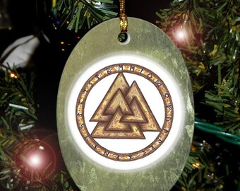 Collectable Valknut Heathen Asatru Yule Holiday Ornament/Car Charm