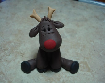 Rudolph Clay Figure