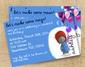 Ella the elephant birthday invitation
