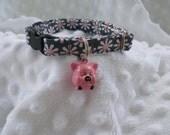 Pink Pig Cat Collar Jingle Bell Breakaway Cat Collar Custom Made
