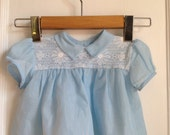 Vintage Baby Blue Lace Top