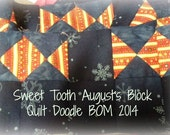Block of The Month 2014 August's Block, Sweet Tooth PDF Pattern