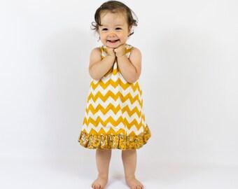 Pinafore Dress Pattern | Reversible with Ruffles