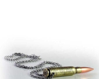 Personalized Bullet Casing Necklace or Keychain, Custom Etched with YOUR Name, Brand, Logo, Company Name, Quote, Saying, whatever you wish