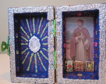 St. James the Apostle mini nicho, Catholic altar, Voodoo shrine, folk art