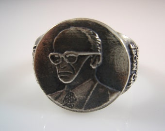 Ezi Zino 3D ring Menachem Begin israel Prime minister solid sterling silver 925