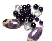 Amethyst Prayer Beads, Meditation Beads, Rosary Beads in Sterling Silver