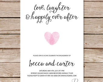 engagement party invitation / Love Laughter and Happily Ever After invites / printable invitations / printed invitations