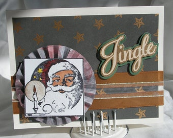African American Santa Claus Chrismas Card