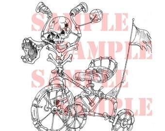 SkullCycle Digital Stamp