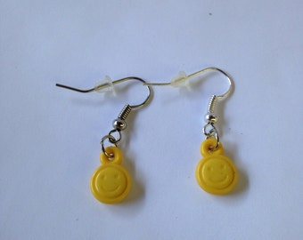 Yellow Smiley Face Earrings