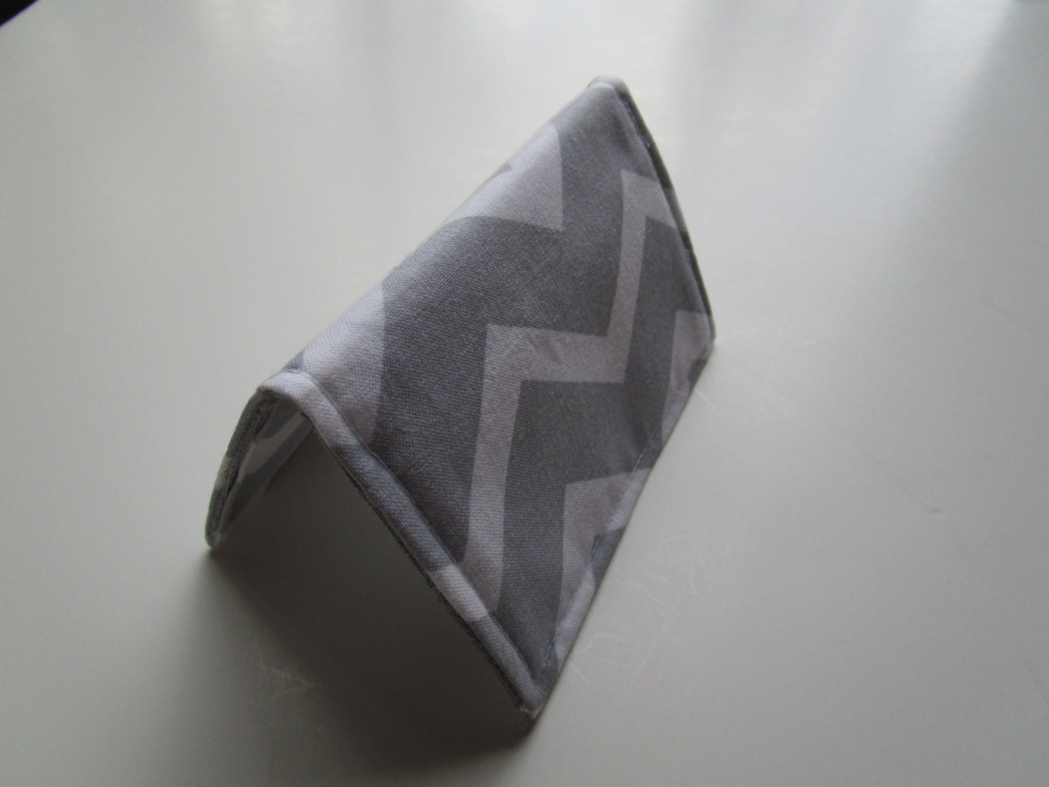 Chevron Credit Card Wallet - Gray and White Chevron - Business Card ...