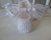 Christening Shoes . White Lace Baby Girl Shoes . Infant  Ballet Slippers Flats . Baptism Shoes
