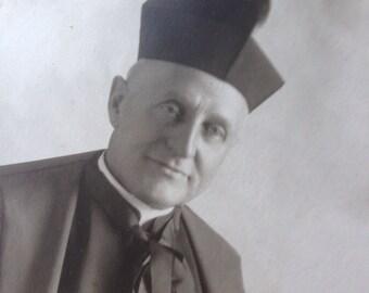 Vintage religious figure photograph -A