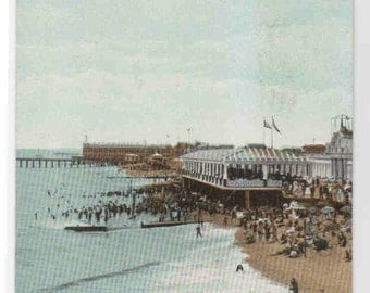 Beach Esplanade Review Asbury Park New Jersey postcard