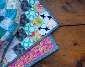 Scrappy Quilt Around the World-- Custom Order Quilt