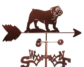 Hand Made English Bulldog Dog Weathervane New