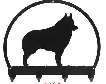 Schipperke Black Metal Key Chain Holder Hanger