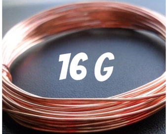Copper Wire 16g Round DS 5-100ft