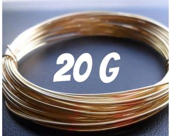 NuGold Brass Wire 20g Round Dead Soft 5ft
