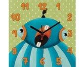 Nursery wall hanging, Kids clock, Nursery clock, Wooden wall clock, Children wall clock, Nursery wall clock, Kids wall clock, Baby clock