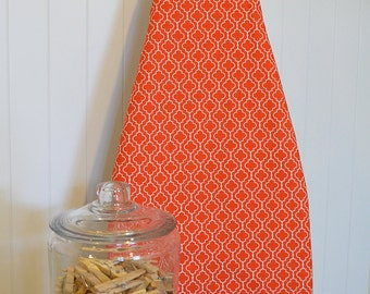 Designer Ironing Board Cover - Metro Living Tiles Orange