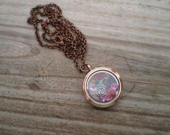 Copper Memory Locket Necklace