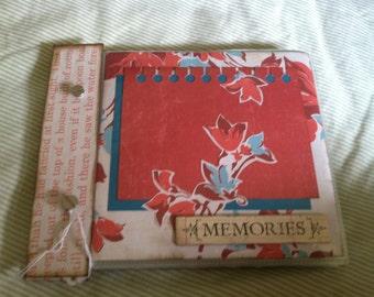 MEMORIES 6x6 Premade Chipboard Scrapbook Album