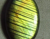 New Madagascar - LABRADORITE - Oval Cabochon Huge size - 25x38 mm Gorgeous Strong Multy Fire