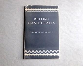 Rare 1940s British design catalogue - British Handicrafts by Charles Marriott 1948 edition - mid century modern - furniture photography