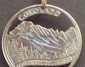Colorado, Connecticut, Delaware, Florida, Georgia State Quarter Hand Cut Coin Jewelry
