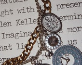OOAK Somewhere In Time Statement Necklace, Charm Necklace, Metal Necklace